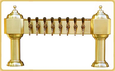 Old Dutch 8 Brass Draft Beer Tower